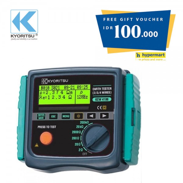 Kyoritsu KEW 4106 Earth Resistance & Resistivity Tester Get Voucher Hypermart