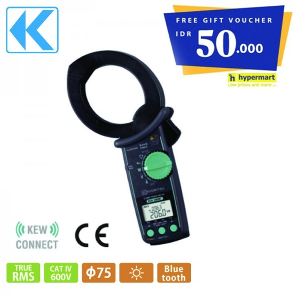Kyoritsu KEW 2060BT Clamp Power Meter Get Free Voucher Hypermart
