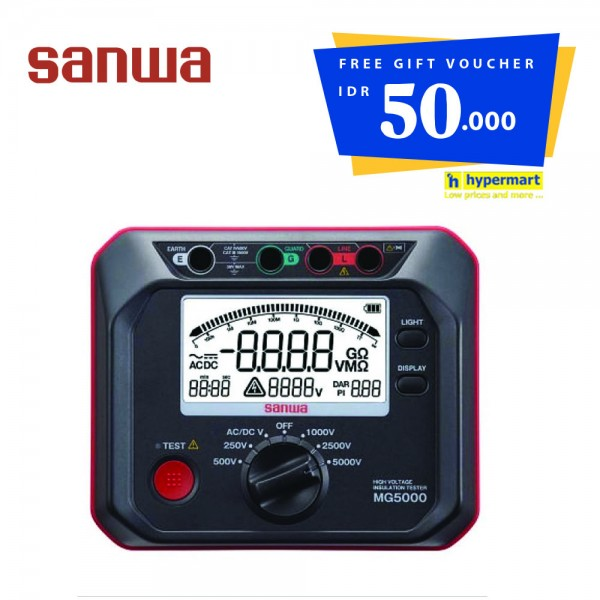 Sanwa MG5000 Digital Insulation Tester Get Voucher Hypermart
