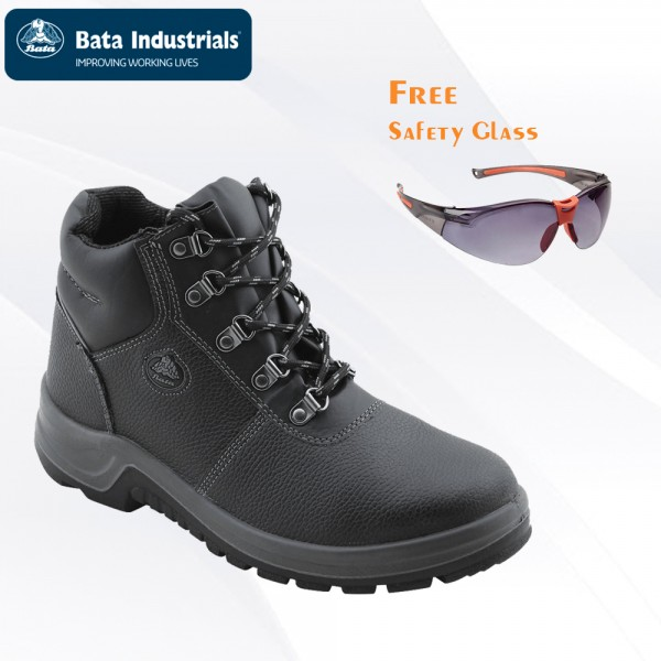 Paket Promo Bata Industrials - Darwin Black Free Safety Glass Clear/Dark Lens