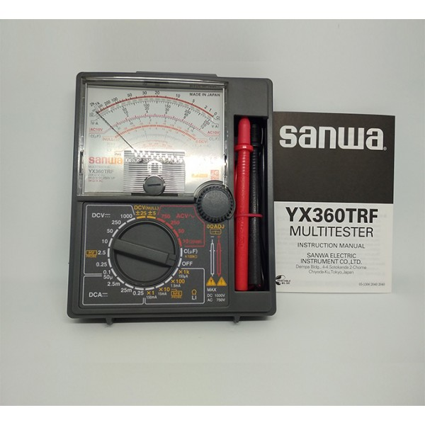 Sanwa YX360TRF Analog Multitesters/Drop shock proof meter